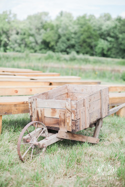 Antique wheelbarrow decor