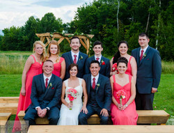 Bridal Party at Ceremony Site