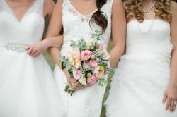 Brides, Dresses and Bouquet