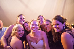 Happy Bride and Friends Dancing