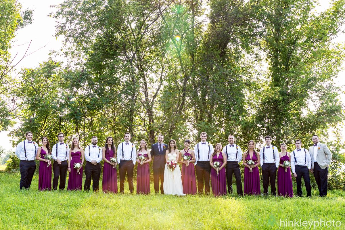 Bridal Party in Fields