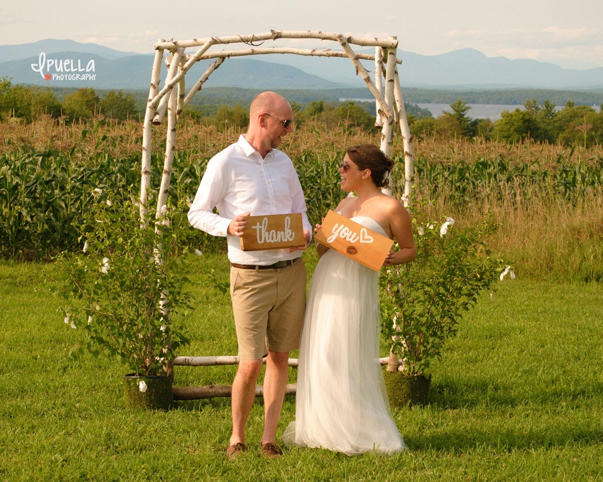 Just Married in the Fields