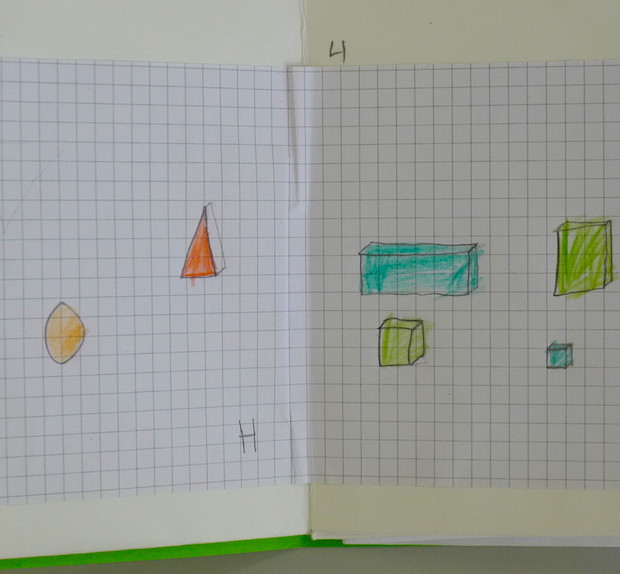 Atom book with hydrogen and helium designs at Bevington