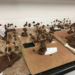 A project inspired by atoms and sculptor Alexander Calder at Hollickwood school