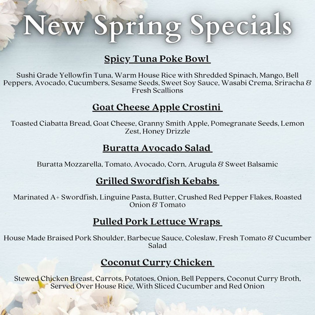 Copy of Specials for each Day of the Wee