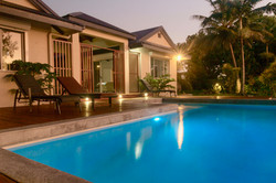Pool and main house front