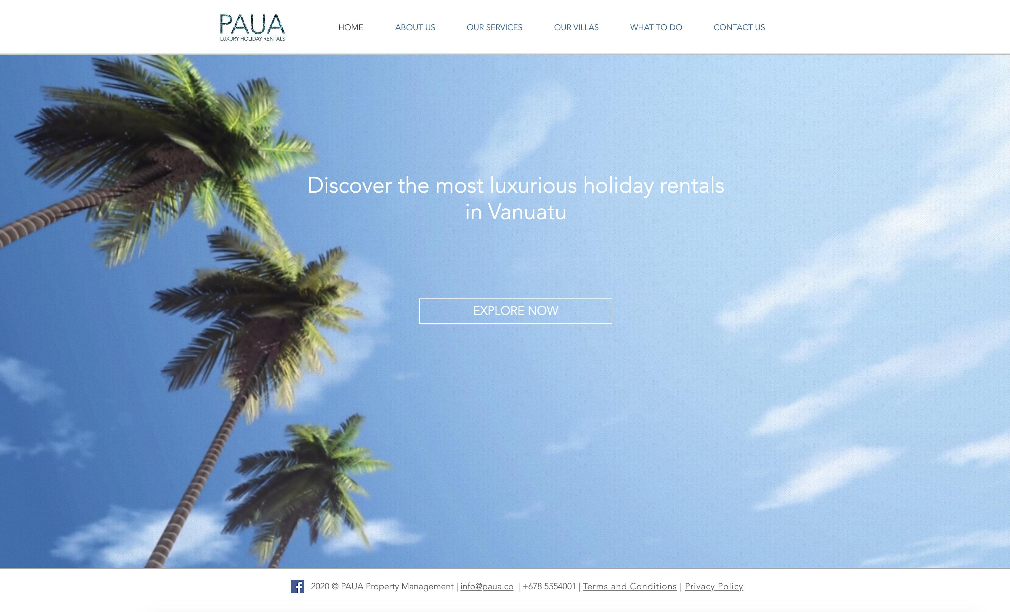 PAUA Luxury Holiday Rentals   Home