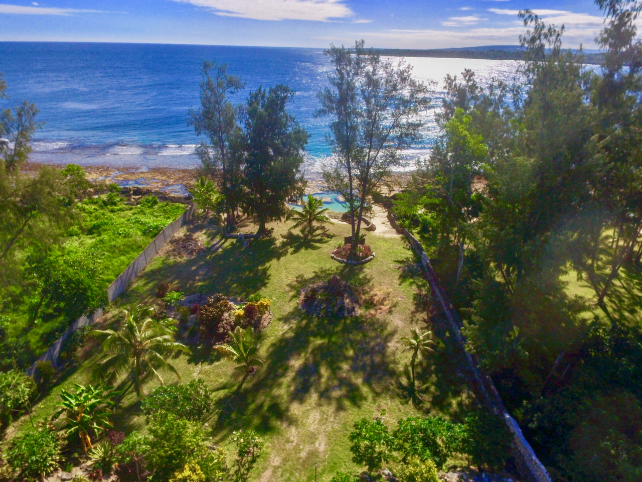 View to garden and private beach
