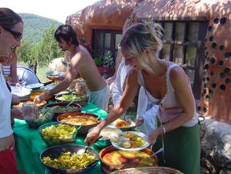 Serving the food - Casita Sunday 6th Jun