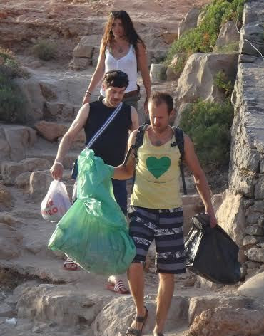 On the way to a beach clean.