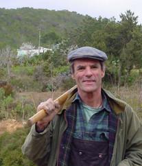 Farmer Chris planting olive trees - Feb