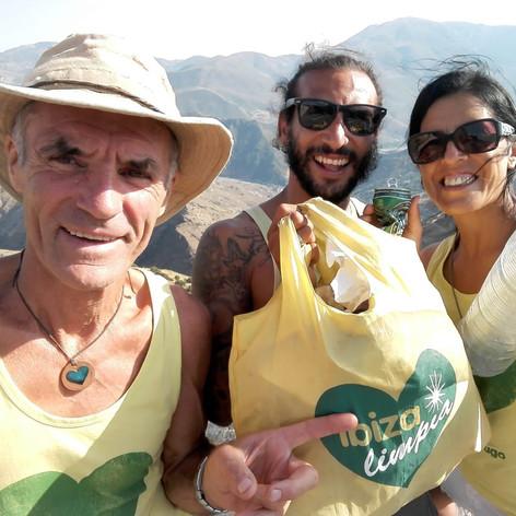 Chris, Cuba and Georgina cleaning in Granada