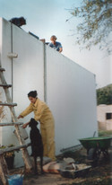1995 - painting the house