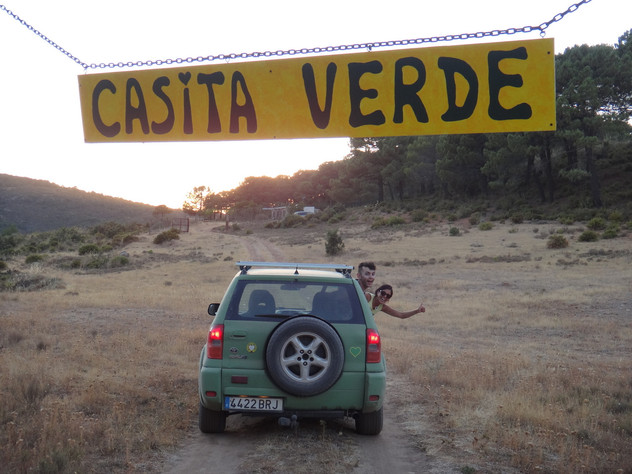 The entrance to Casita Verde - the house is in the background