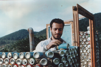 1996 - building the eco-toilet out of tin cans