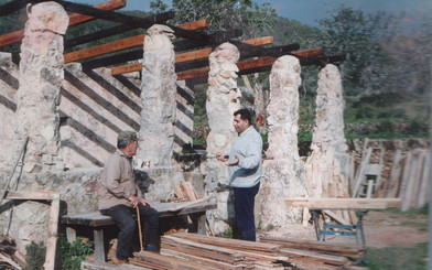 1996 - building the kitchen