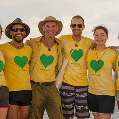 The dream team with green hearts.