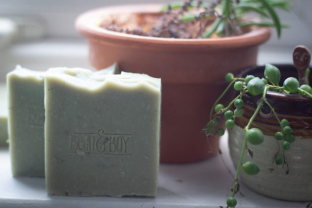 Tea Tree + Green Clay Soap Bar 110g - Bean & Boy