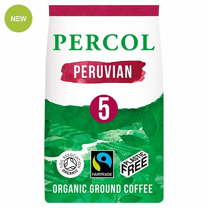 Percol Plastic Free Ground Coffee | Peruvian | 200g