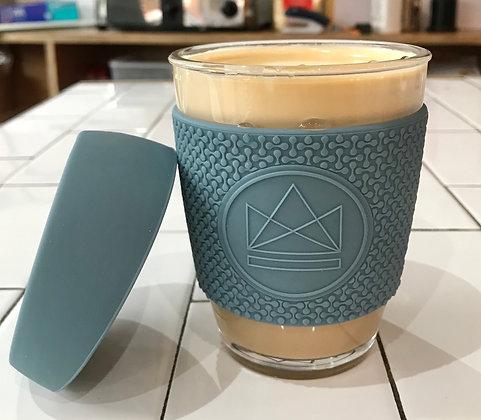 Neon Kactus Glass Coffee Cup - Super Sonic Blue