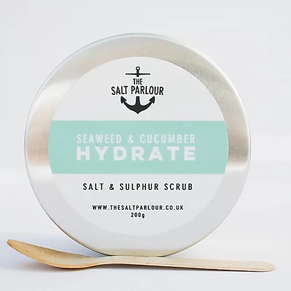 The Salt Parlour Seaweed & Cucumber Body Scrub 200g – HYDRATE