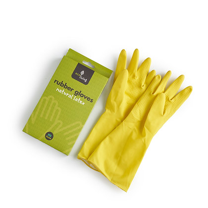 Natural Latex Rubber Gloves | EcoLiving | MEDIUM
