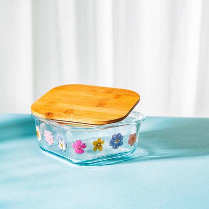 Pressed Flowers Glass Storage Box
