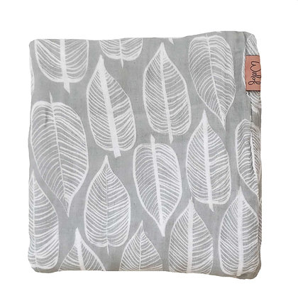 Warm Grey Cotton & Bamboo Swaddle | Witloff for Kids | 120x120cm