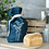 Thumbnail: Navy Blue Linen Bread Bag - Helen Round
