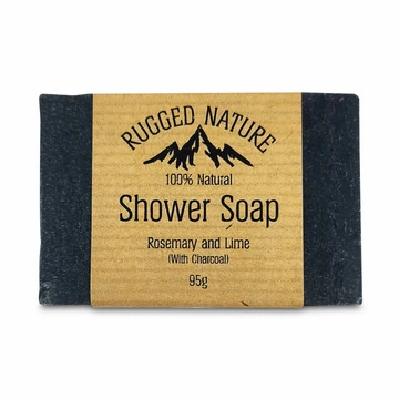 Rugged Nature Shower Soap with Charcoal | Plastic Free | 95g