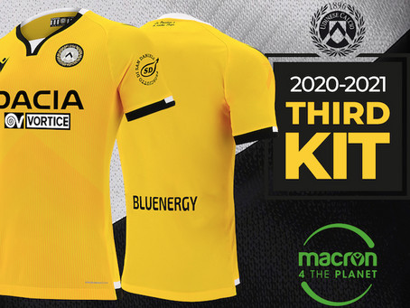 Sport e sostenibilità: ecco la maglia ecocompatibile dell'Udinese Calcio