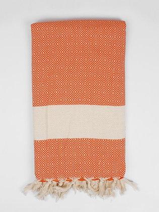 Nordic Hammam Towel | 100% Natural Cotton | Orange