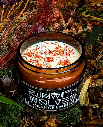 Orange Embers Natural Soy Candle - Run with Wolves 180ml