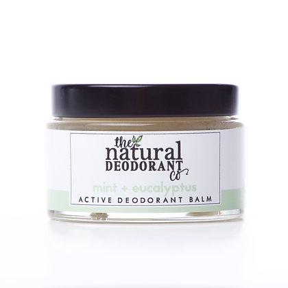 The Natural Deodorant Co.   Active Deodorant Balm 55g   Mint & Eucalyptus