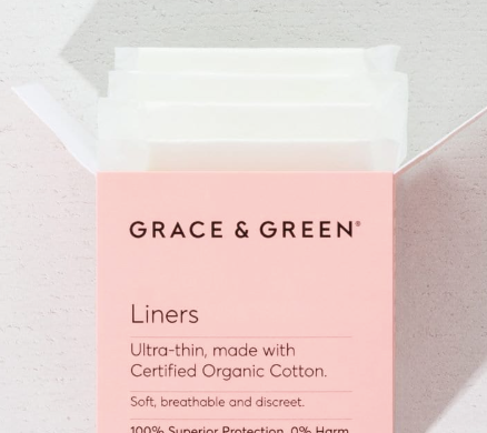Grace & Green | Organic Cotton Liners | Plastic-Free (24 Pack)