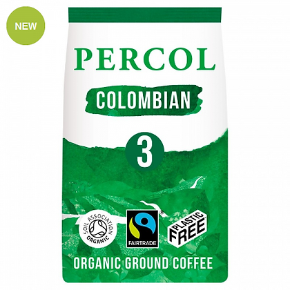 Percol Plastic Free Ground Coffee   Smooth Colombian   200g