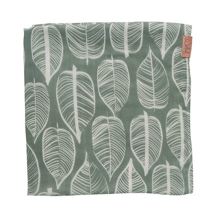 Sage Green Cotton & Bamboo Swaddle | Witloff for Kids | 120x120cm