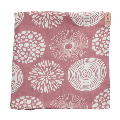 Sparkle Rose Cotton & Bamboo Swaddle | Witloff for Kids | 120x120cm