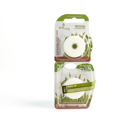 EcoLiving | Plant-Based Vegan Dental Floss | 2 Pack