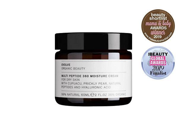 Multi Peptide 360 Moisture Cream | Evolve Organic Beauty | 60ml