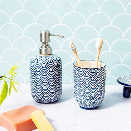 Blue Wave Soap Dispenser   Sass & Belle