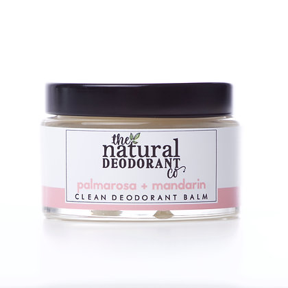 The Natural Deodorant Co. | Clean Deodorant Balm 55g | Palmarosa & Mandarin