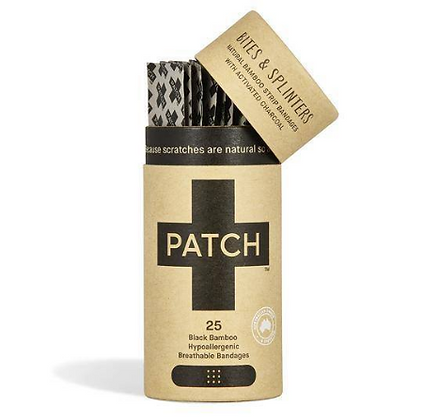 PATCH Biodegradable Plasters | Activated Charcoal | 25 Pack