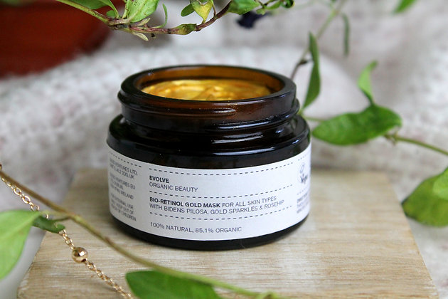 Travel Size Bio-Retinol Gold Face Mask | Evolve Organic Beauty | 30ml