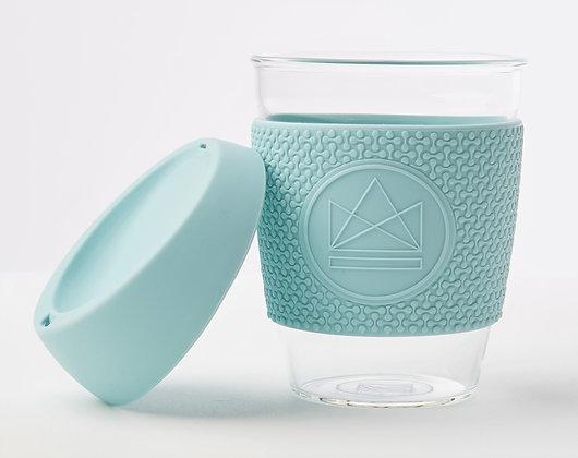 Neon Kactus Glass Coffee Cup - Sea Breeze