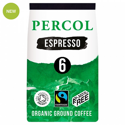 Percol Plastic Free Ground Coffee | Intese Espresso | 200g