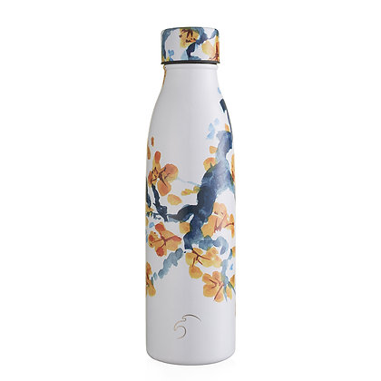 One Green Bottle - Peach Blossom Thermal Insulated 500ml bottle