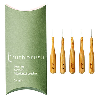 Truthbrush Bamboo Interdental Brushes | 5 Pack | 0.4mm