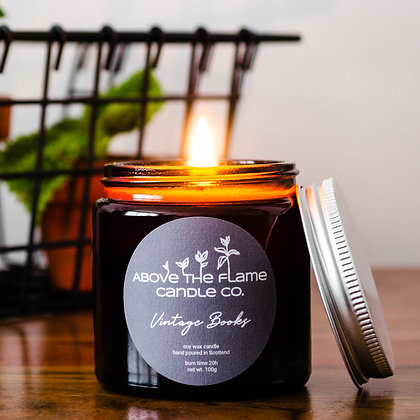 Vintage Books Soy Wax Candle | 100g | Above the Flame