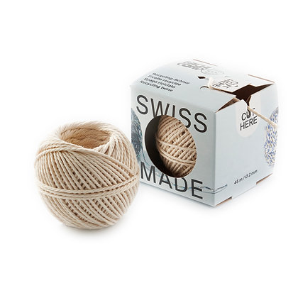 Recycled Natural Cotton Twine in Dispenser